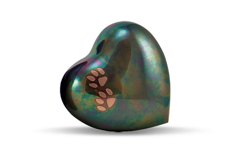 Arielle Heart Urn - Raku Image