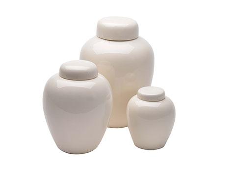 Ceramic Urn - White Image