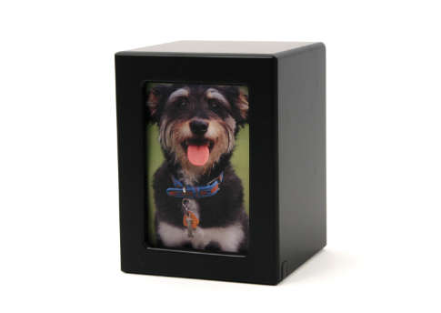 Photo Urn-- Black Satin Image