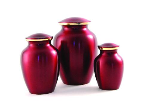 Classic Pet Urn- Crimson Image